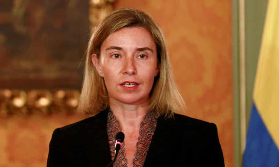 European Union foreign policy chief Federica Mogherini, who has drawn up the new plans.