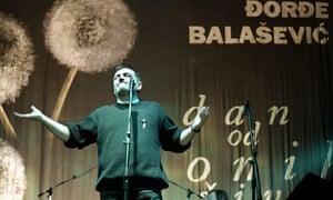 Serbian protest singer Djordje Balasevic.