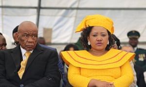 Lesotho's prime minister, Thomas Thabane, and his wife, Maesiah, in Maseru in 2017.