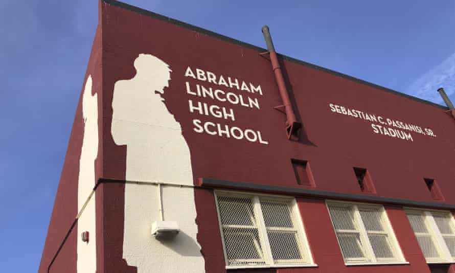 Abraham Lincoln high school in Some of the city's youngest students are expected to begin returning to in-person instruction this month after more than a year of distance learning.