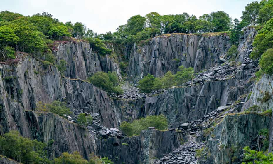 A slate mine in north-west Wales