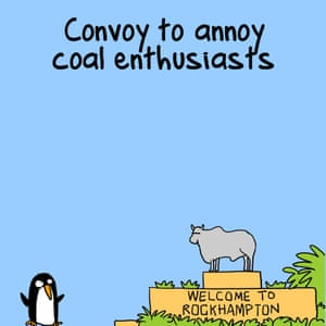 """""""Participating in a convoy to annoy coal enthusiasts"""""""