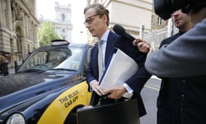 Cambridge Analytica's former CEO Alexander Nix arrives at a Commons select committee, 6 June 2018.