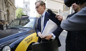 Cambridge Analytica's former chief executive Alexander Nix arrives to give evidence to parliament's digital, culture, media and sport committee in June.