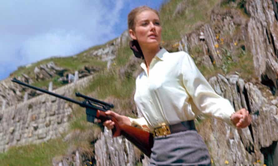 Avenger … Tania Mallet in the third Bond film Goldfinger.