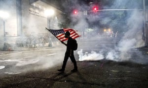 Street protests such as this in Portland, Oregon, have highlighted divisions that could exacerbate mental stress.