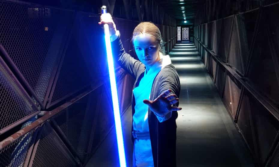 Jay Tepley from London, a meditation teacher and lightsaber trainer.