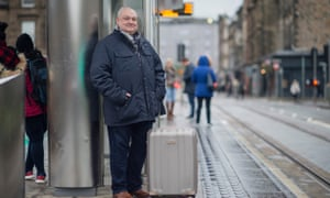 Mark McKergow admits he was 'flabbergasted' when a shop owner made an 860-mile round trip to make sure he got his suitcase in time for a trip.