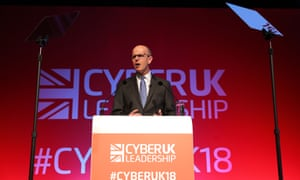 Jeremy Fleming, the director of GCHQ, addresses the Cyber UK conference in Manchester.