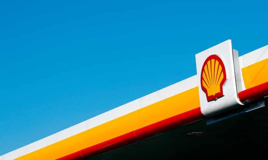 a shell garage sign