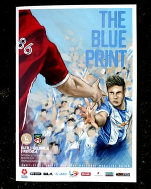 The cover of the match day programme which was designed by local art teacher David Carless.