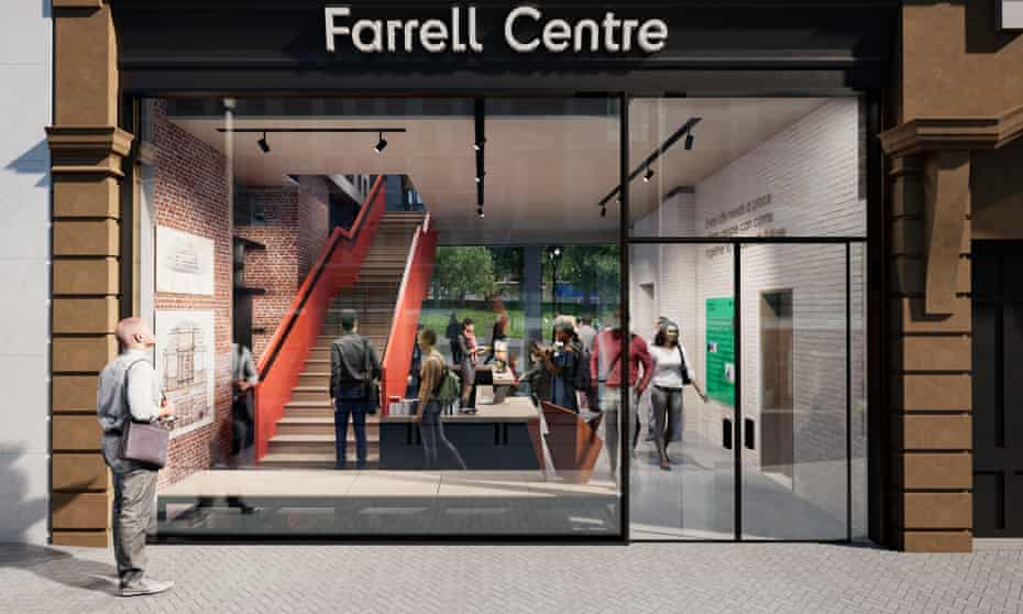 an artists' impression of the forthcoming Farrell Centre in Newcastle