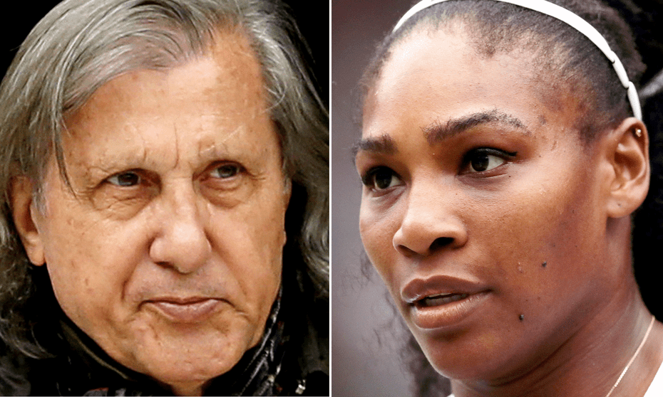Ilie Nastase said of Serena Williams' unborn baby: 'Let's see what colour it has. Chocolate with milk?'