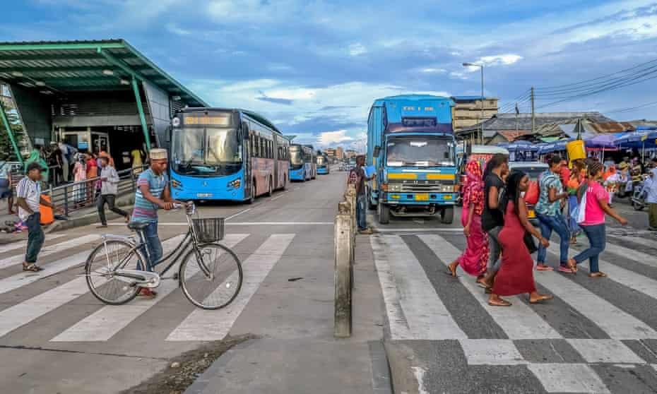 The Bus Rapid Transit system in Dar es Salaam