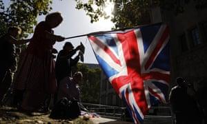 Pro-Brexit demonstrators in London last week.