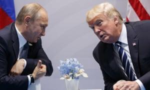 Trump and Putin at the G-20 summit in Hamburg in July