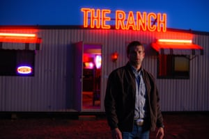 Alex Russell outside the ranch in Ivan Sen's Goldstone.
