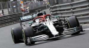 Hamilton, running on soft tyres.
