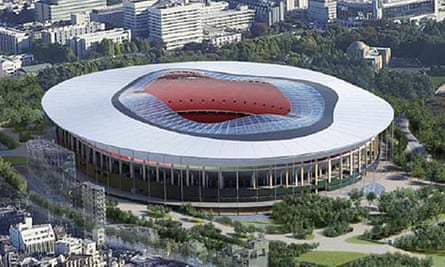 Egging the athletes on … one of the new options for the Tokyo 2020 Olympic stadium.