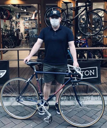 Justin McCurry and bike