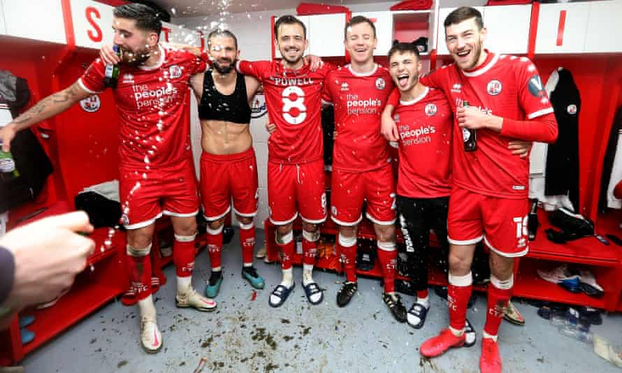 Crawley's celebrations after their win against Leeds led to questions about a failure to observe Covid-19 protocols.