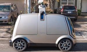 A Nuro an autonomous vehicle that promises to run your errands for you.