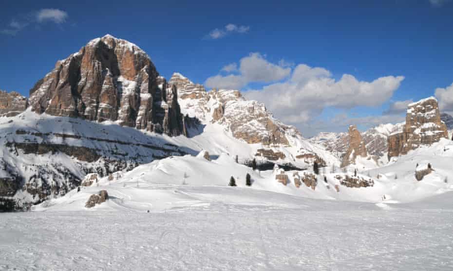 The Dolomites from Rifugio Scoiattoli near Cortina d'Ampezzo