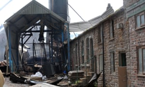 Bosley Mill in Cheshire after the fire in July 2015