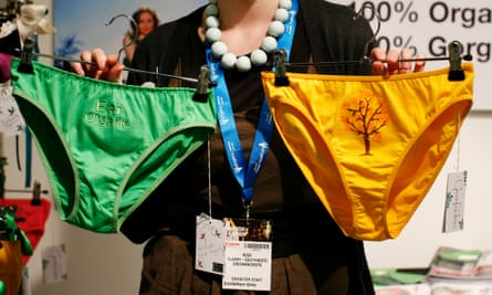 Ecofriendly knickers at London fashion week.