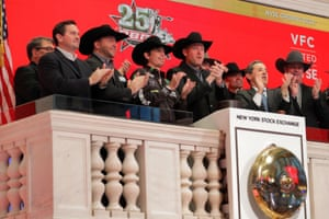 Professional bull rider J. B. Mauney rings the opening bell of the New York Stock Exchange in New York, U.S., January 5, 2018.
