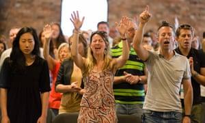 Worshippers at St Luke's church in Birmingham.