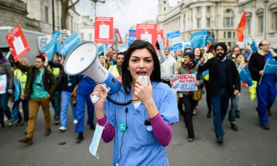 NHS junior doctors protest, February 2016