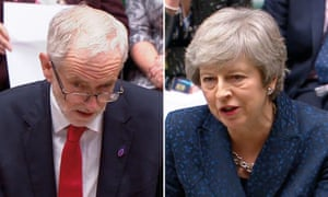 Jeremy Corbyn and Theresa May clash on Brexit at PMQs.