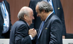 Sepp Blatter, left, with Michel Platini in 2015.