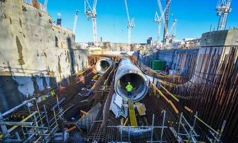 Construction work at Hinkley Point C nuclear power.