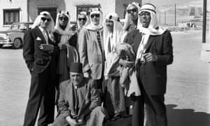 Dizzy Gillespie (far right) and his orchestra in Turkey, 1956.