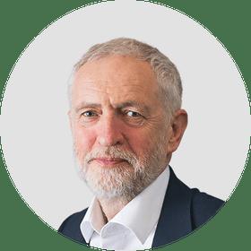 Jeremy Corbyn. Circular panelist byline.