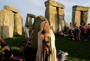 A druid at Stonehenge
