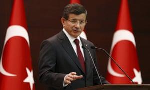 Turkey's prime minister, Ahmet Davutoglu
