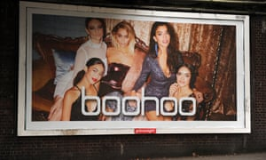 Boohoo advertising poster in East Finchley, London