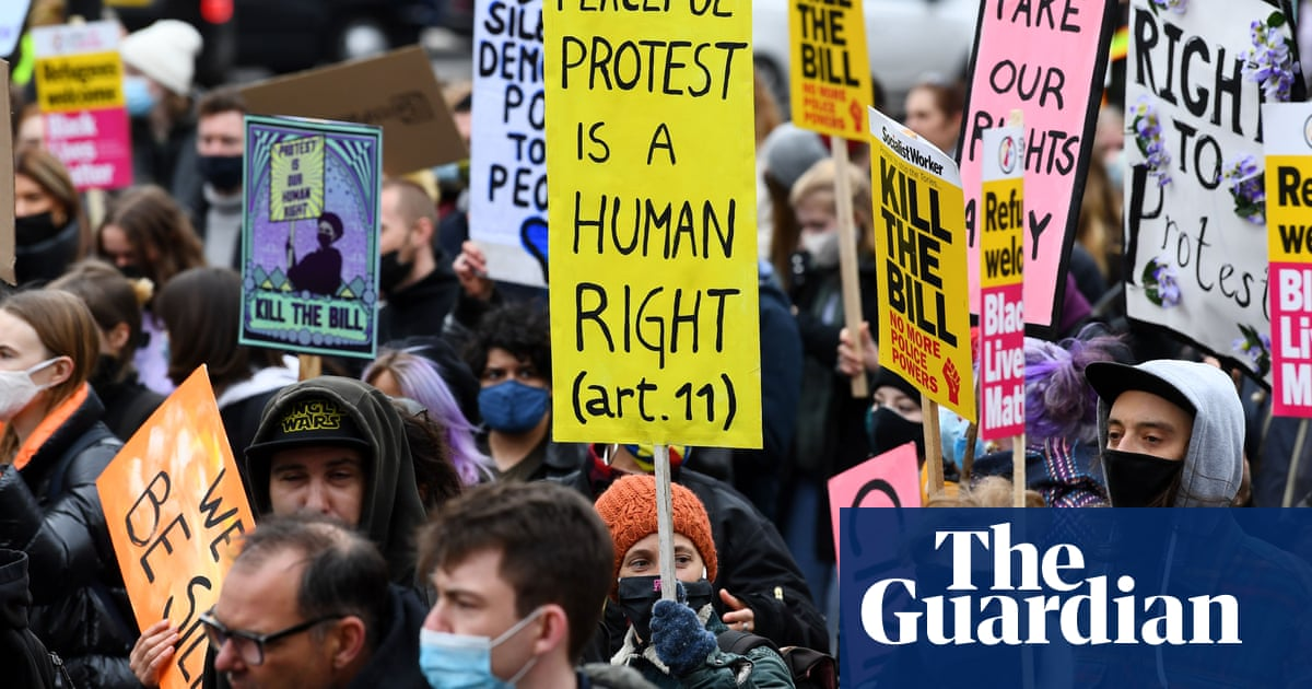 'Kill the bill' protesters rally across England and Wales