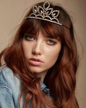 Model Grace wearing a look from Saint Laurent