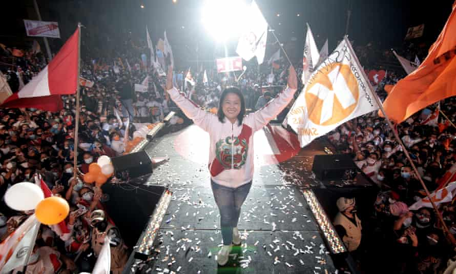 Keiko Fujimori brings her campaign to a close in Lima on Thursday