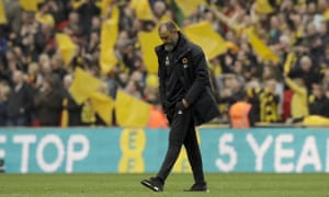 The Wolves manager, Nuno Esprito Santo, contemplates what might have been at Wembley.
