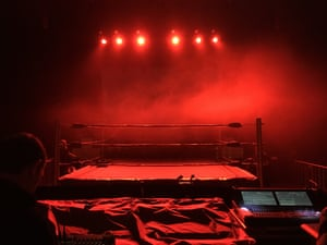 The wrestling ring at the Odeon.