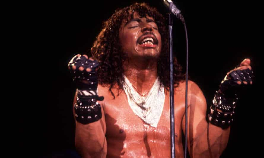 Rick James 9/9/83 in Merrilville, In. At various locations, (Photo by Paul Natkin / WireImage)