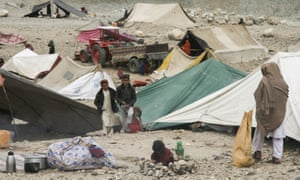 Some 9,000 families were forced to leave their homes by fighting between Isis and Taliban