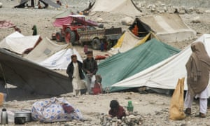 About 9,000 families have fled the conflict between Islamic State and the Taliban in Nangarhar Province, Afghanistan.
