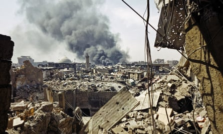 Victory has been declared in Mosul but explosions still silence Islamic State fighters.