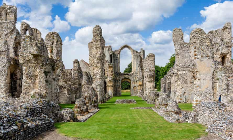 The ruins of the church at Castle Acre Priory, Norfolk.